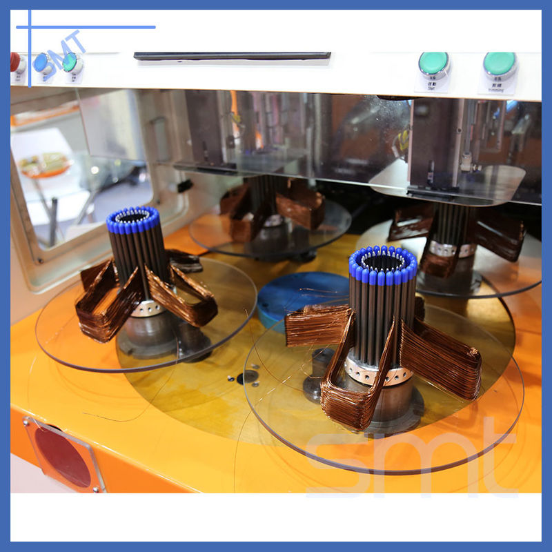 Automatic Stator Coil Copper Wire Making Machine With Mitsubishi Servo Motor